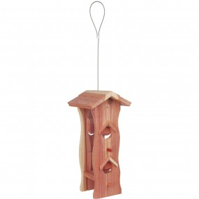 Comedero madera de cedro natural