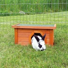 Casa Trixie Natura Madera Para Exterior 40 x 20 x 28cm con conejo