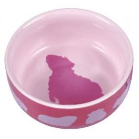 Comedero Trixie Cerámica Cobaya rosa 250ml