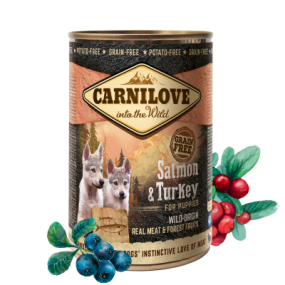 Comida Húmeda Carnilove Perro Puppy Lata Salmón y Pavo