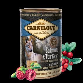 Comida Húmeda Carnilove Perro Adulto Lata Salmón y Pavo