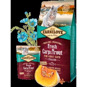 Pienso Carnilove Fresh Gato Adulto Esterilizado Carpa y Trucha