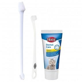 Higiene Dental Trixie Gato Set con Cepillos y Pasta de dientes