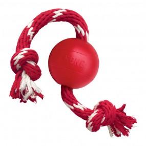Juguete Kong Ball with Rope Rojo Tamaño S
