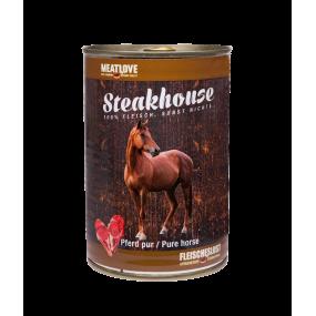 Comida Húmeda MeatLove Perro Adulto SteakHouse Lata Caballo