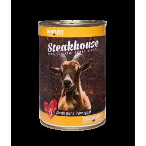Comida Húmeda MeatLove Perro Adulto SteakHouse Lata Cabra